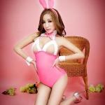 Pre Order / ชุดกระต่ายพร้อมหู สีชมพู