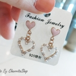 ต่างหู Sweet Pastel Heart Korea ER6631
