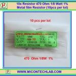 10x Resistor 470 Ohm 1/8 Watt 1% Metal film Resistor (10pcs per lot)