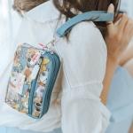 กระเป๋าถือคล้องมือ 3 ซิป + 1 ซิปหน้า