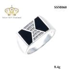 แหวนผู้ชาย ประดับเพชรCZ ดีไซด์แบบสุภาพ คลาสสิกเก๋ไก๋ สามารถใส่ติดนิ้วได้ทุกโอกาส โดดเด่น สะดุดตา ใส่สบายไม่อับชื้น