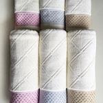 ขายส่ง ชุดเซท-C4 ผ้าเช็ดตัว 400g.+ผ้าเช็ดผม 100g. Cotton 100% ส่ง 180 บาท
