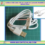 1x Micro USB Cable 100 cm Length for Leonardo NodeMCU (White Color)