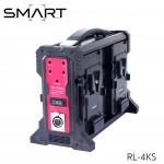SMART RL-4KS 4x Charger for V-Mount Battery สำเนา
