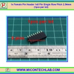 1x Female Pin Header 1x8 Pin Single Row Pitch 2.54mm (1pcs per lot)