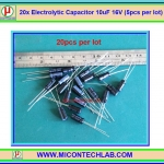 20x Electrolytic Capacitor 10uF 16V (20pcs per lot)