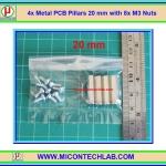 4x เสารองแบบเหลี่ยม 20 มม. 8x สกรู M3 (Pillars 20 mm)