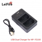 Battery Charger LeiFire Dual USB For Sony NP-FZ100