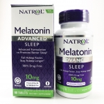 Natrol, Advanced Sleep Melatonin, Maximum Strength, 10 mg, 60 Tablets