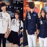 PRE-ORDER เสื้อเชิ้ตคู่รัก เกาหลีใหม่เสื้อเชิ้ตแขนยาวสีพื้นเรียบพิมพ์ลายน่ารักๆ ญ/ช.เสื้อเชิ้ตแขนยาว
