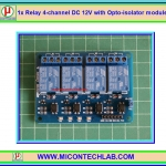 1x Relay 4-channel DC 12V with Opto-isolator module