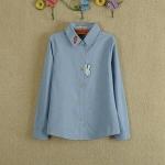 Pre-Order เสื้อเชิ้ตแขนยาว สีฟ้า (ไซส์ S,M,)