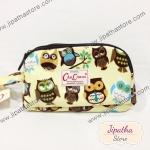 กระเป๋าคล้องมือ Chalita wu สีเหลือง ลายนกฮูก