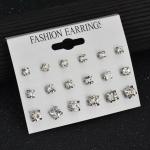 เลือกสีด้านในค่ะ ต่างหูชุด 9 คู่ ต่างหูคริสตัล ER554121