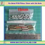 12x เสารองแบบเหลี่ยม 15 มม. 24x สกรู M3 (Pillars 15 mm)