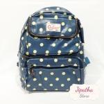 กระเป๋าเป้ Chalita wu สีฟ้า ลายจุด