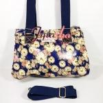 กระเป๋า Chalitawu 2 ช่อง + สายสะพาย ทรงเหลี่ยม สีกรม ลายนาฬิกา