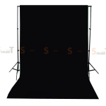 Background Black Backdrop 3.2x6m. Cotton for Chromakey
