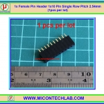 1x Female Pin Header 1x10 Pin Single Row Pitch 2.54mm (1pcs per lot)