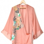 "Vintage Old-rose Satin Blouse (Bust 38"")"
