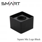 Microphone Logo SMART Square Mic Logo เพลทติดโลโก้ สี่เหลี่ยม พร้อมฟองน้ำซับใน -Black