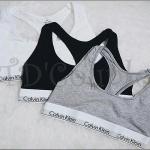 พร้อมส่ง เสื้อกล้าม(บรา)ทรง Sport Bra/กางเกงในทอม CK ผ้าฝ้ายยืดออกแบบแฟชั่นขอบขาวสวย