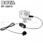 Microphone ไมค์หนีบปกเสื้อ BOYA BY-GM10 Electret Condenser Lavalier for GoPro