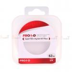 JYC Pro 1 D Super Slim UV fiter 62mm