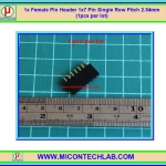 1x Female Pin Header 1x7 Pin Single Row Pitch 2.54mm (1pcs per lot)