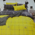 ขายส่ง ผ้าปูที่นอน+นวม 6 ฟุต 6 ชิ้น เกรด A ลายตาราง ส่ง 380 บาท
