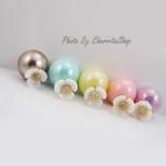 เลือกสีด้านในค่ะ ต่างหู Little Flower Pearl Korea ER46120