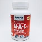 Jarrow Formulas, N-A-C Sustain, N-Acetyl-L-Cysteine, 600 mg, 100 Bilayer Tablets