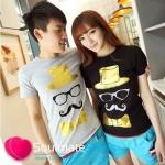 เสื้อคู่รัก ชุดคู่รัก เสื้อคู่ เสื้อยืดคู่รัก ผลิตจากผ้าฝ้ายคุณภาพสูง