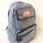 กระเป๋าเป้ Chalita wu สีฟ้า ลายจุดเล็ก