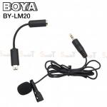 Microphone ไมค์หนีบปกเสื้อ BOYA BY-LM20 Professional Mini USB External Clip for GoPro