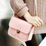 กระเป๋า สะพายข้าง ทรง vintage สีชมพู