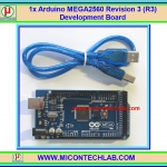 1x แผงวงจรไมโคร Arduino MEGA2560 Revision 3 (R3) Development Board