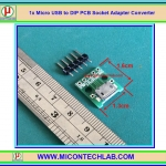 1x Micro USB to DIP PCB Socket Adapter Converter