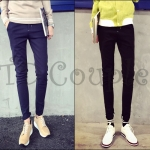 PRE-ORDER กางเกงขายาวแฟชั่นใหม่ กางเกงขาวยาวลำลองออกแบบแนวหนุ่มฮาเร็มสีสันเรียบง่าย