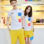 เสื้อคู่ เสื้อคู่รัก ชุดคู่รัก เสื้อยืดคู่รักเกาหลี เนื้อผ้าดี