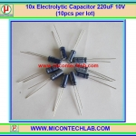 10x Electrolytic Capacitor 220uF 10V (10pcs per lot)