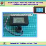 1x LCD AC Digital Wattmeter Voltmeter Ammeter Kilowatthourmeter PZEM-061 panel module