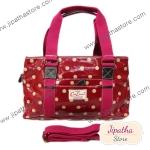 กระเป๋า Chalita wu + สายสะพาย 3 ซิป สีเลือดหมู