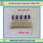 5x Electrolytic Capacitor 100uF 16V (คาปาซิเตอร์)