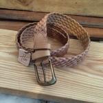 เข็มขัดหนังฟอกฝาดถัก Homme's รุ่น Knit leather