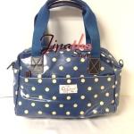 กระเป๋าถือ+สะพาย Chalita wu สีฟ้า ลายจุด