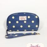 กระเป๋าสตางค์  Chalita wu สีฟ้า ลายจุด
