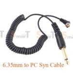 Flash Cable PC Sync /Cord For Camera Flash Trigger with 6.35mm