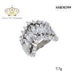 แหวนเพชร ประดับ เพชรCZ ดีไซน์สวยหรูดูแพง งานเวอร์วังอลังการ สวยเด่นด้วยดีไซน์ เน้นมิติได้สวยลงตัวสุดๆ