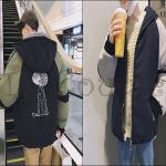 PRE-ORDER เสื้อแจ็คเก็ตแฟชั่นแบบใหม่ เสื้อแจ็คเก็ตกันหนาวคลุมหนาใหญ่อบอุ่น